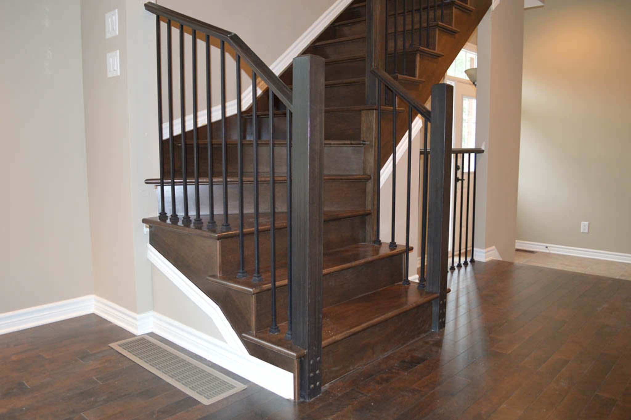 stairs laminate staircase railing floors on and refinishing strataline inc hardwood flooring