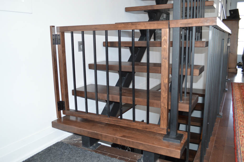 Custom Made Baby Gates Made To Match Existing Stairs And Railings.
